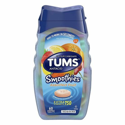 Tums Antacid Smoothies Fruit Chewable Tablet, Antacid Smoothies Fruit Chewable Tablet
