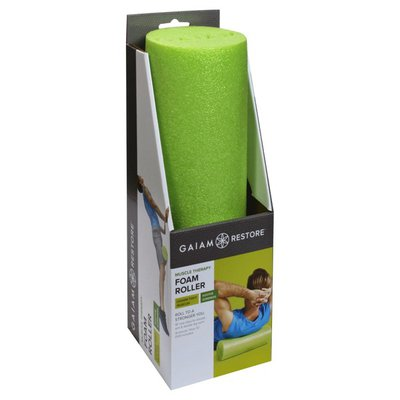 Gaiam Foam Roller, Muscle Therapy, 18 Inch