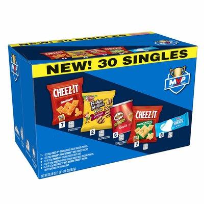 Cheez-It Baked Snack Cheese Crackers & Mini Cookies, Variety Pack, MVP Mega Variety Pack, Rice KrispiesTreats Original