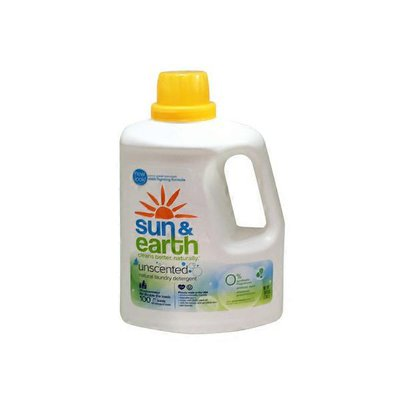 Sun & Earth Laundry Detergent, Natural, 2X Concentrated, Unscented