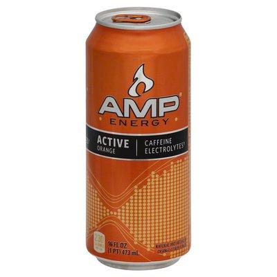 Amp Energy Drink, Active, Orange