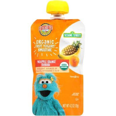 Earth's Best Organic Fruit Yogurt Smoothie Pineapple Orange Banana
