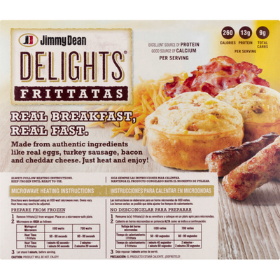 Jimmy Dean Delights Turkey Sausage and Bacon Frittatas, Frozen
