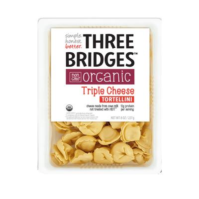 Three Bridges Tortellini, Organic, Triple Cheese