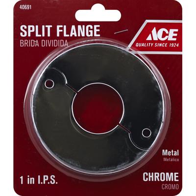 Ace Bakery Split Flange, Metal, Chrome