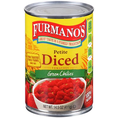 Furmano's Petite Diced Tomatoes Green Chilies