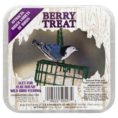 C & S Products Suet, Berry Treat