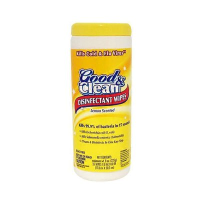 Good & Clean Disinfectant Wipes, Lemon Scented
