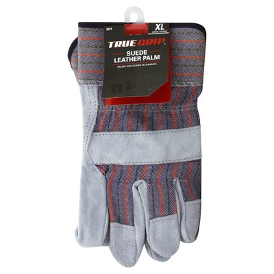 True Grip Gloves, Suede Leather Palm, X Large