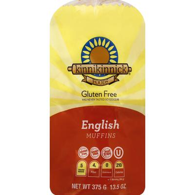 Kinnikinnick Foods English Muffins, Gluten Free