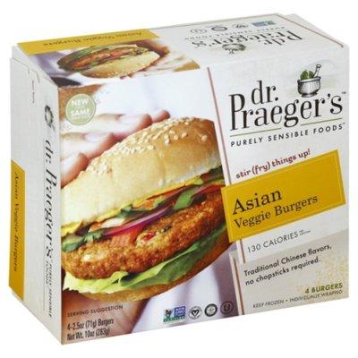 Dr. Praeger's Asian Veggie Burgers - 4 CT