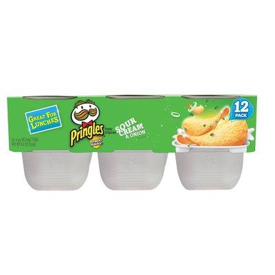 Pringles Potato Crisps Chips, Lunch Snacks, Sour Cream and Onion