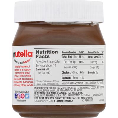 Nutella Spread, Hazelnut, with Cocoa