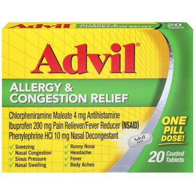 Advil Allergy and Congestion Relief Medicine, Allergy and Congestion Relief Medicine