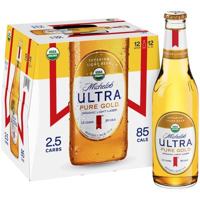 Michelob Ultra Pure Gold Organic Light Lager Beer Bottles