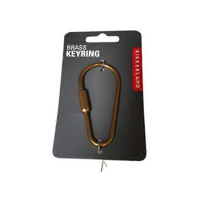 Kikkerland Design Everyday Carry Brass Keyrings
