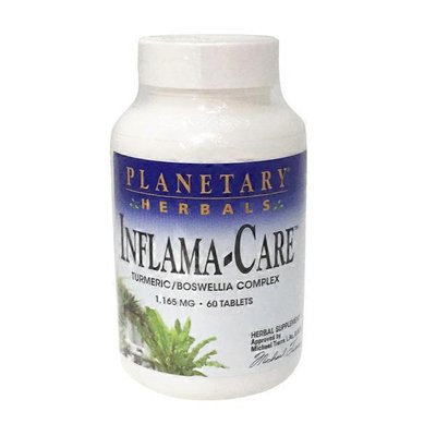 Planetary Herbals Inflama-Care Turmeric/Boswellia Complex 1,165 mg Tablets