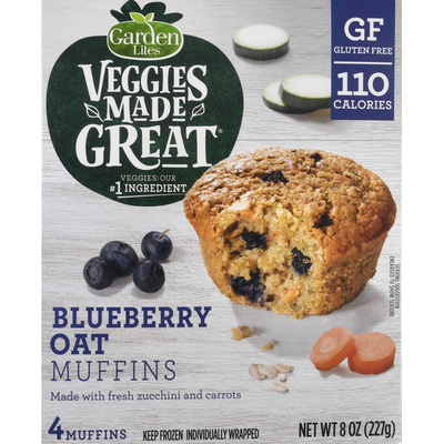Veggies Made Great Muffins, Blueberry Oat