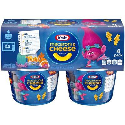 Kraft Easy Mac Cups Troll Shapes Dinner