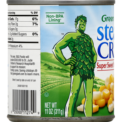 Green Giant SteamCrisp Super Sweet Yellow & White Whole Kernel Corn