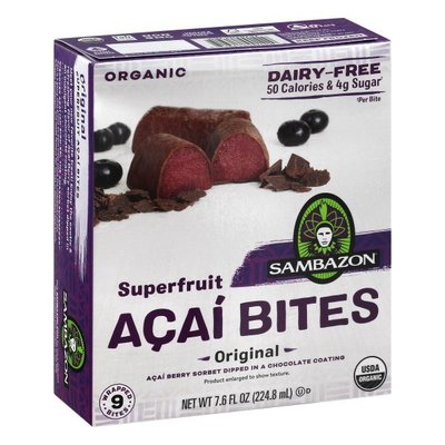 Sambazon Acai Bites, Superfruit, Organic, Dairy-Free, Original