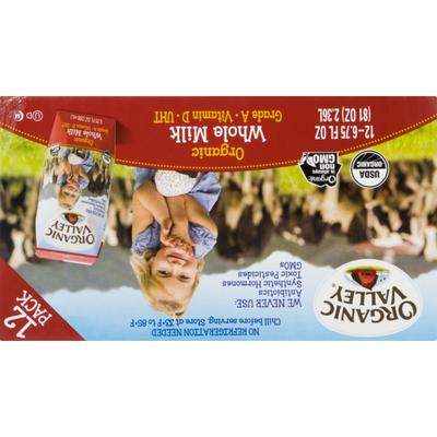 Organic Valley Single Serve Shelf Stable Organic Whole Milk