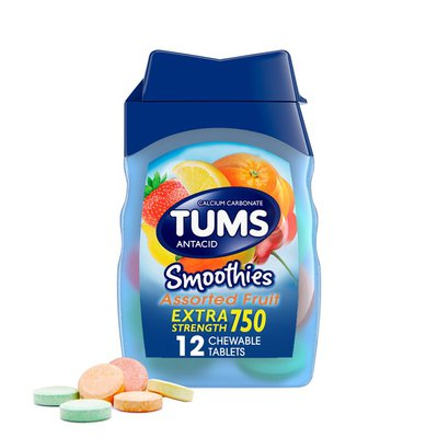 Tums Antacid Chewable Fruit Smoothies Tablets, Antacid Chewable Fruit Smoothies Tablets