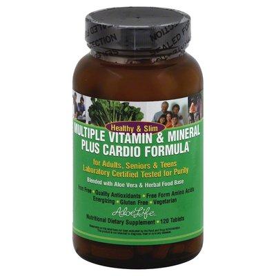 Aloe Life Multiple Vitamin & Mineral Formula, Plus Cardio, Tablets