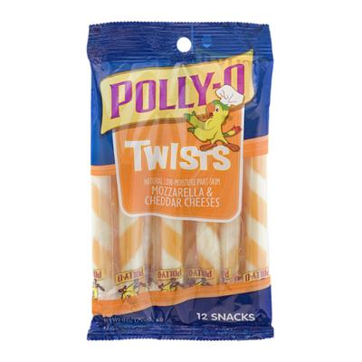 Polly-O Twists String Cheese Mozzarella & Cheddar Cheese Snacks