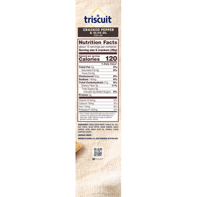 Triscuit Cracked Pepper & Olive Oil Crackers