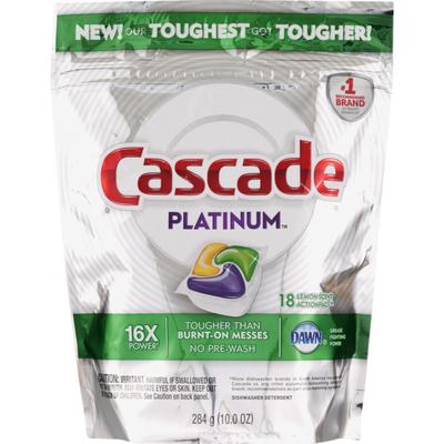 Cascade Platinum Dishwasher Detergent ActionPacs, Lemon