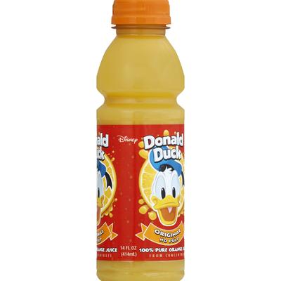 Donald Duck 100% Juice, Orange, No Pulp, Original