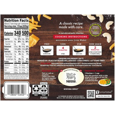 Stouffer's Macaroni & Cheese Frozen Meal