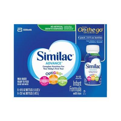 Similac Advance Infant Formula with Iron Ready-to-Feed Bottles