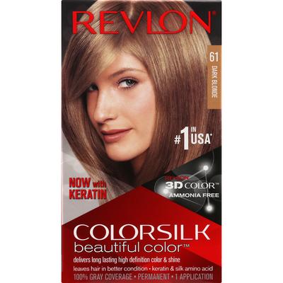 Revlon Hair Color, Permanent, Dark Blonde 61
