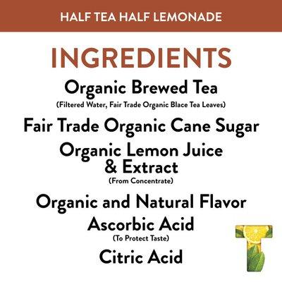 Honest Tea Tea Organic Fair Trade Half Tea & Half Lemonade Gluten Free