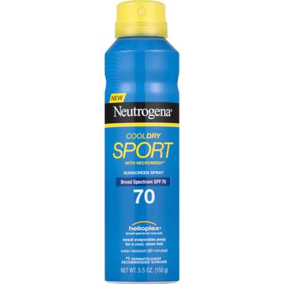 Neutrogena® Cooldry Sport Sunscreen Spray Broad Spectrum SPF 70