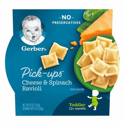 Gerber Cheese and Spinach Ravioli
