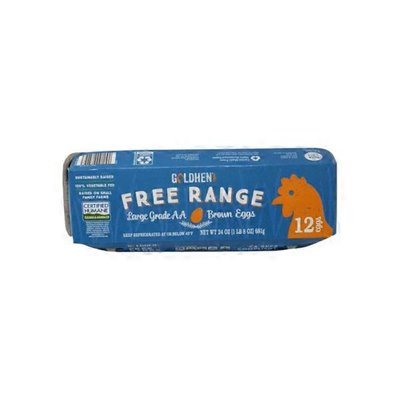 Goldhen Eggs Grade AA Free Range Large Brown Eggs