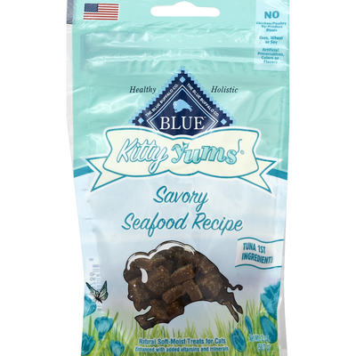 Blue Treats for Cats, Natural Soft-Moist, Savory Seafood Recipe