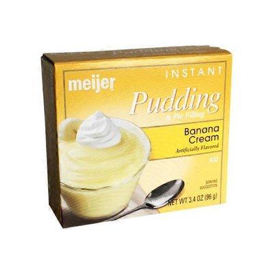 Meijer Pudding & Pie Filling, Instant, Banana Cream