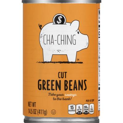 Cha Ching Cha Ching Green Beans, Cut, Can