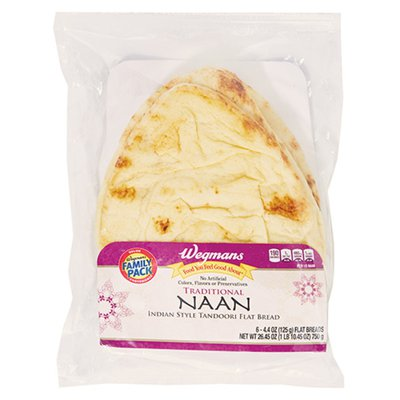 Wegmans Food You Feel Good About Traditional Naan, FAMILY PACK