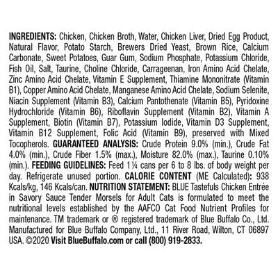 Blue Buffalo Tastefuls Natural Tender Morsels Wet Cat Food, Chicken Entrée