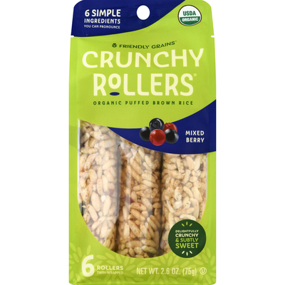 Friendly Grains Crunchy Rollers, Mixed Berry