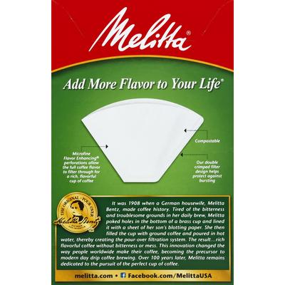 Melitta Super Premium White Cone Coffee Filters
