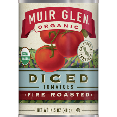 Muir Glen Tomatoes, Organic, Fire Roasted, Diced