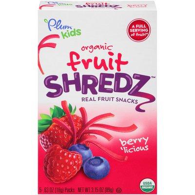Plum Organics Shredz Berry'licious Fruit Snacks