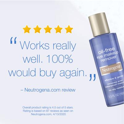 Neutrogena® Oil-Free Eye Makeup Remover