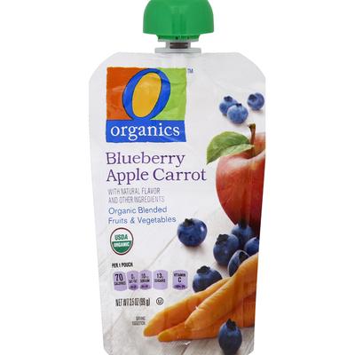O Organics Blended Fruits & Vegetables, Organic, Blueberry Apple Carrot